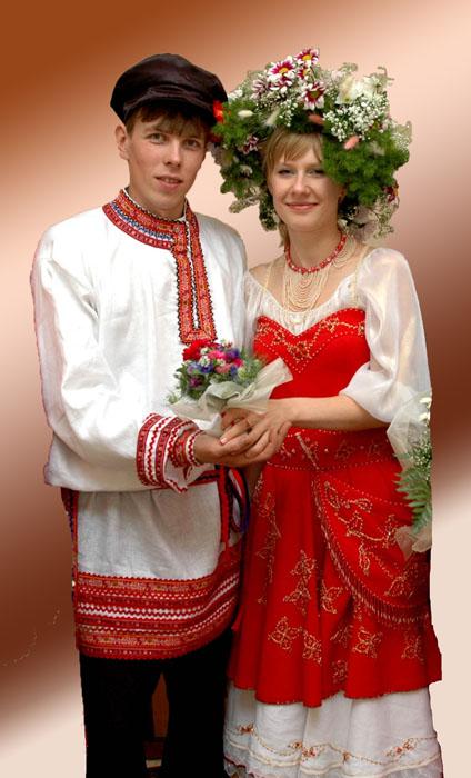 Свадьба в русско-народном стиле.
